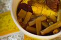 แกงเหลืองสายบัวปลากะพง ; Southern Thai Spicy Sour Yellow Curry with Lotus Stems and Sea Bass