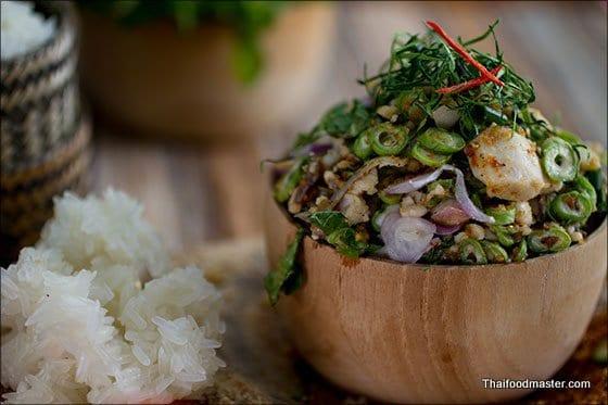 Fish Koi Recipe (Koi Pa) - Vientiane Style Fish and Herbs Salad ก้อยปลานิลเวียงจันทน์