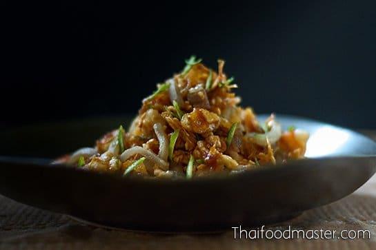 ยำผิวส้มซ่า ; Salad of Bitter Orange Peels, Shrimp, Poached Pork Belly and Peanuts with Sweet and Sour Dressing