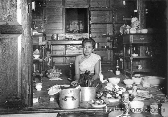 Lady Aab Bunnag in the kitchen of Ruen Ton residence