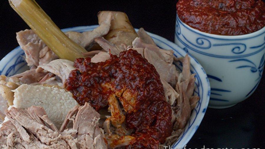 ต้มข่าเป็ด จิ้มน้ำพริกเผาแบบโบราณ อย่างหม่อมซ่มจีน (ราชานุประพันธุ์) ร.ศ.๑๐๙