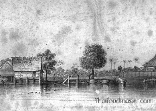 The residence Dr. Carl August Friedrich Gutzlaff, Bangkok (c1828)