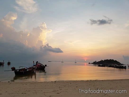 แกงเหลืองสายบัวปลากะพง ; Southern Thai Spicy Sour Yellow Curry of Lotus Stems and Sea Bass
